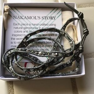 Nakamol Stitch Fix Clary Leather Wrap Bracelet